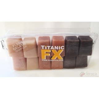 Titanic Fx Gelatina Prostética -Pack tonos Carne-