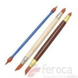 Pinceles de Modelado -Set de 3 con doble punta de goma-