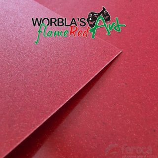 Worbla's Flame Red Art. thermoplastic.