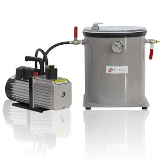 Complete vacuum system for degassing