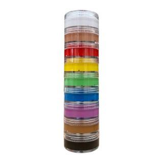 Tubo de cor 60gr -Pacote de 9 cores-