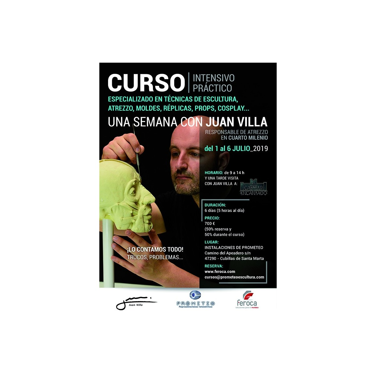 Curso Intensivo 1 semana con Juan Villa (1 al 6-07-2019) - Feroca, S.A.