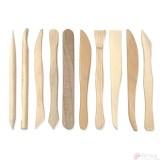 Palillos de Modelado de Madera -Set de 10 unidades-
