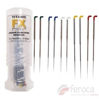 Needles for biting hair -rooting needles-