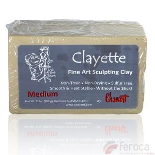 Clayette de Chavant Medium (Dureza Media)  -Plastilina Profesional para Modelar-