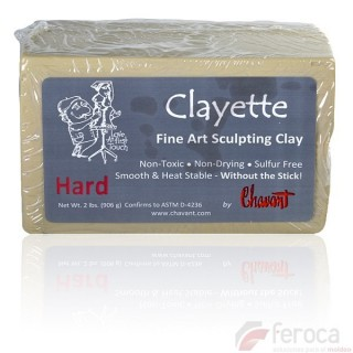 Clayette de Chavant Hard (High Hardness) -Professional Clay for Modeling-