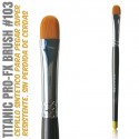 TITANIC PRO-FX BRUSH 103 -Avellanado Medio-