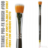 TITANIC PRO-FX BRUSH 108 -Stipple plana recta medio-