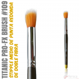 TITANIC PRO-FX BRUSH 109 -Stipple redondeado medio-