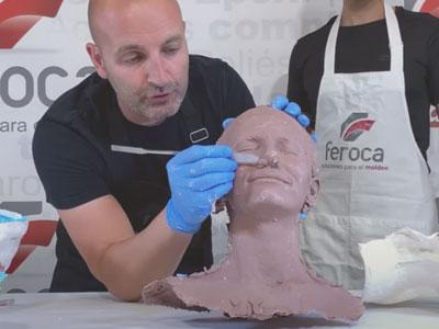 Resultado final del molde de rostro con alginato